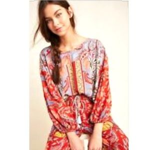 Anthropologie Paisley Floral Patchwork Tunic XS